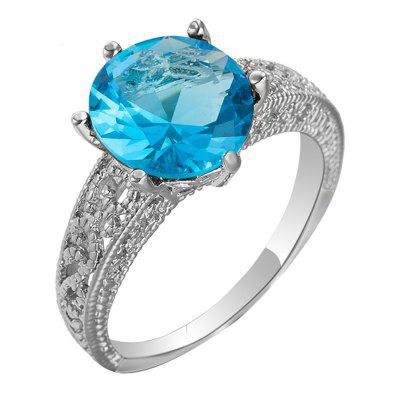Fashion Micro-inlaid and Simple Zircon Ring J2023