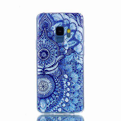 for Samsung S9 Cases Cat Flower Back Cover Soft Silicone TPU
