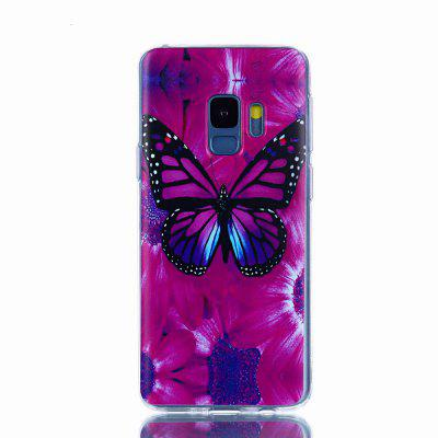 for Samsung Galaxy S9 Cases Bird Butterfly Flower Back Cover Soft Silicone TPU