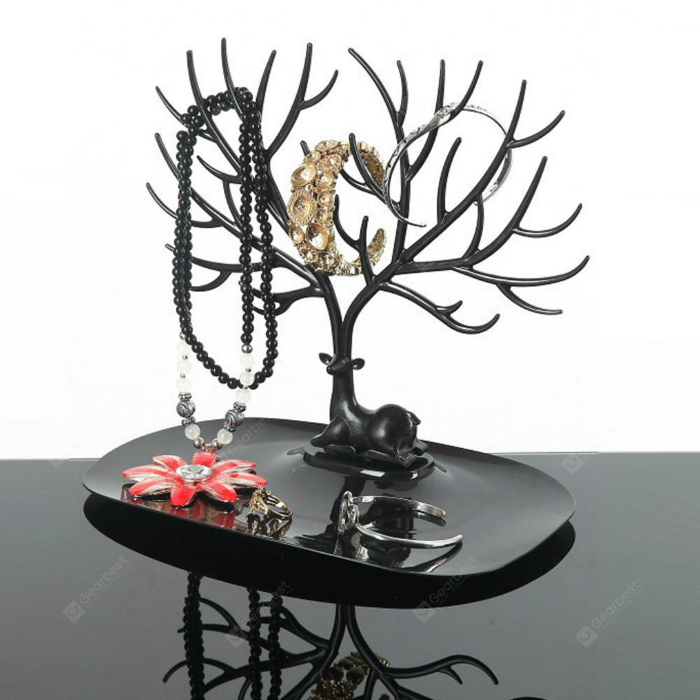 Fashion Jewelry Necklace Earrings Rings Deer Stand Display