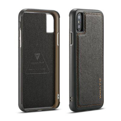 WHATIF per iPhone X fai da te Kraft Paper TPU Frame Cover posteriore per PC
