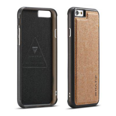 WHATIF pentru iPhone 6 / 6S rezistent la DIY Kraft Paper TPU Back Cover Case Cover