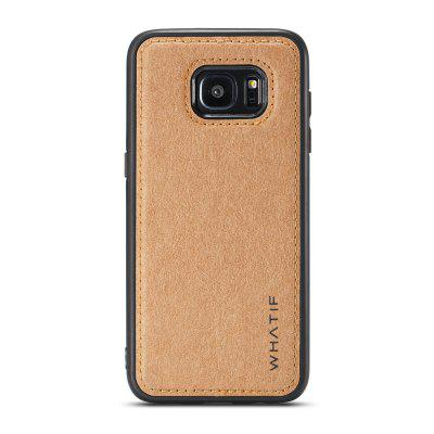 WHATIF for Samsung Galaxy S7 TPU PC Shell with DIY Function Kraft Paper Case
