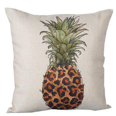 Pineapple Pattern Printed Cushion Cover