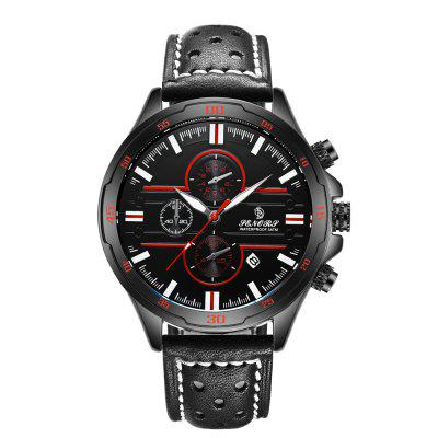 SENORS  SN007  Leather Chronograph Men Watches