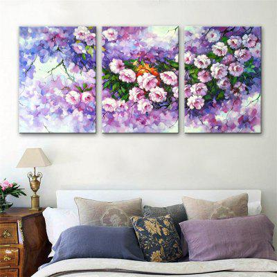 Special Design Frameless Paintings Flowers Print 3PCS