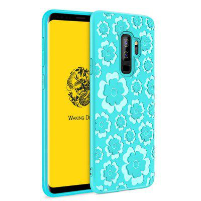 Voor Samsung Galaxy S9 Plus 3D Silicon TPU Flower Language Back Covers