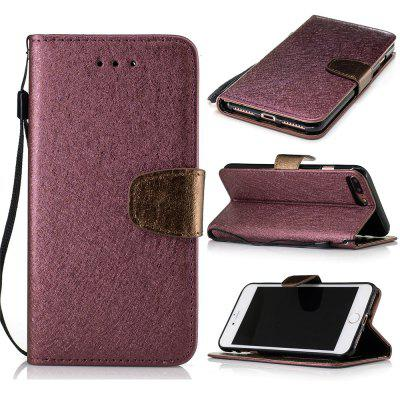 Stand Flip Full Body Cases Solid Color Pu+Tpu Leather for iPhone 7 Plus / 8 Plus
