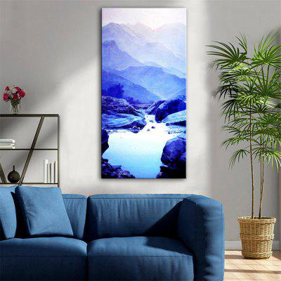 Special Design Frameless Paintings Painted Blue Print