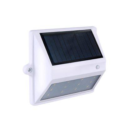 BRELONGSolar Luz de Pared con 12 LEDs Control de Luz - Patio de Jardín con Luces