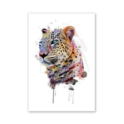 W021 Leopard Head Unframed Wall Art Canvas Prints for Home Decor