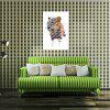 W021 Leopard Head Unframed Wall Art Canvas Prints for Home Decor - MULTI-A