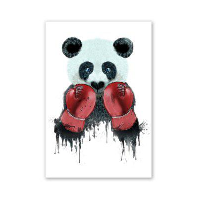 W028 Boxing Panda Unframed Wall Art Canvas Prints for Home Decor