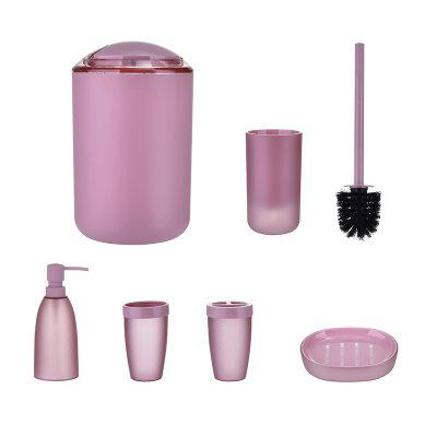 Bathroom Accessories Set Bin Toothbrush Tumbler Holder Soap Dish Dispenser 6pcs