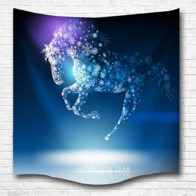 Snowflakes Flying Horse 3D Printing Home Wall Hanging Tapestry for Decoration