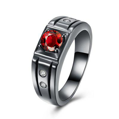 Punk Style Zircon Ring Charm Jewelry Gift for Women