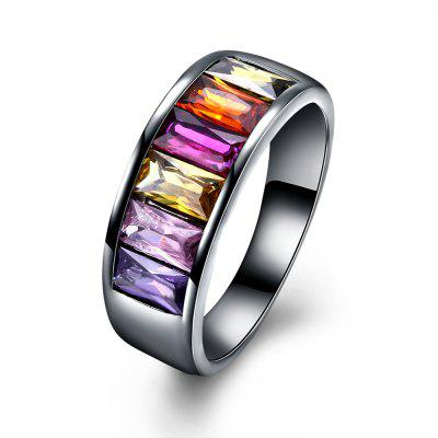 Punk Style Colorful Zircon Ring Charm Jewelry