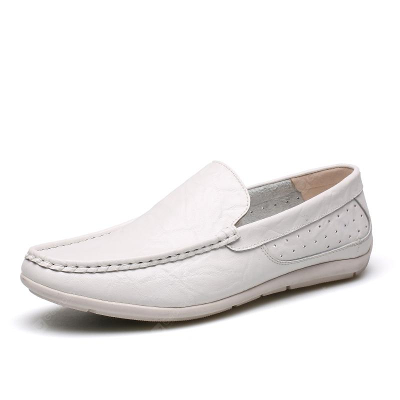 Male Outdoor Soft Driving Flat Loafers Leather Men's Casual Shoes