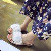 Women's Open Toe Slippers Rhinestone Decor Comfy  Sweet Ladylike Flat Shoes - GOLD