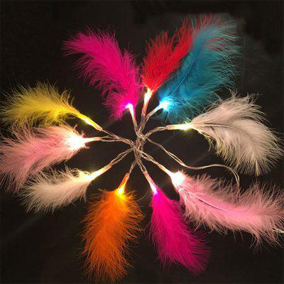 2M 20-LED Feather String Lights for Festival Wedding Party Home Decoration