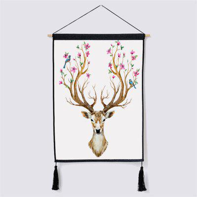 Modern Minimalist Style Deer Fabric Hanging Painting