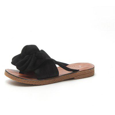 Skidding Butterfly Knot Flat Bottomed Beach Soft Bottom and Cool Slippers