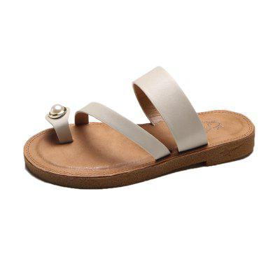 A All-match Fashion Pearl Slippers