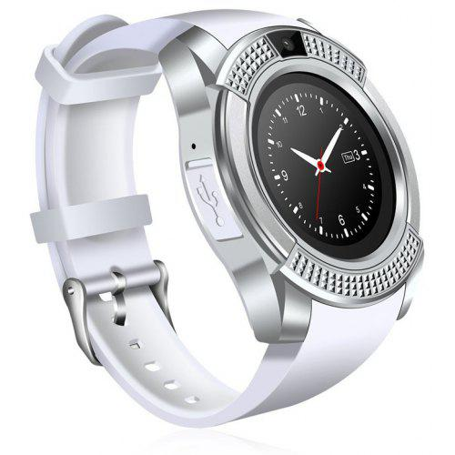 V8 Smart Watch Support Sim TF Card Bluetooth Clock with Camera for  Smartphone