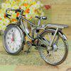 Vintage Arabic Numeral Retro Bicycle Pattern Creative Alarm Clock Home Decor - WHITE