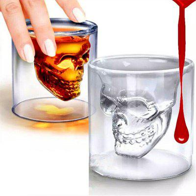 Magic Transparent Glass Skull Cups Cafenele de cafea