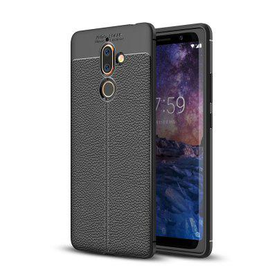Корпус для Nokia 7 Plus Litchi Grain Anti Drop TPU Мягкая обложка