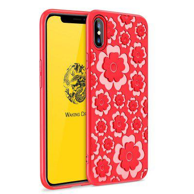 Cover per iPhone X in silicone 3D TPU con fiore