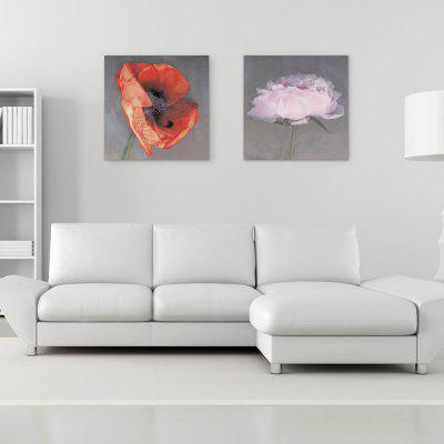 W107 Flowers Unframed Wall Art Canvas Prints for Home Decorations 2 PCS