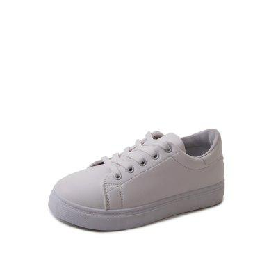 Flat Bottomed White Shoes