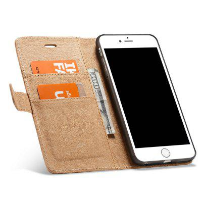 WHATIF para iPhone 6 / 6S Plus DIY Flip Carteira Proteger Caso com Tampa Removível