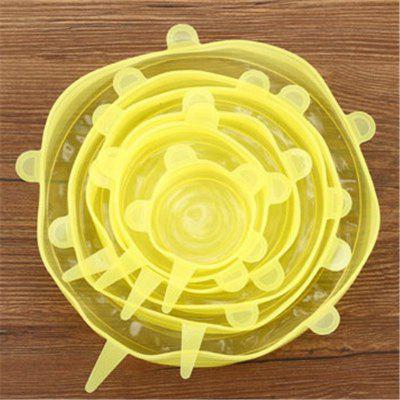 6Pcs Universal Silicone Cover Vacuum Seal Suction Sealer Food Bowl Pot Stretch