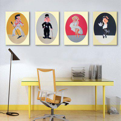 Special Design Frameless Paintings Star Print 4PCS