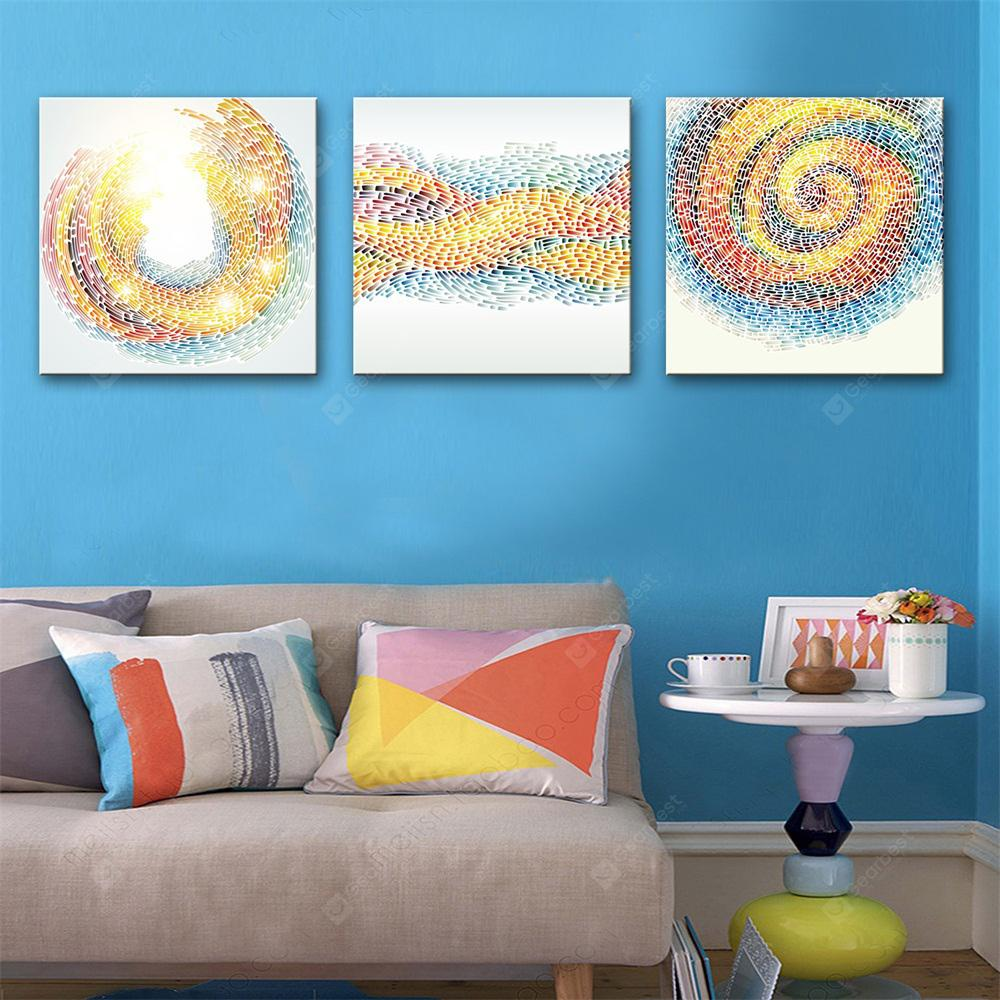 Special Design Frameless Paintings Lines Print 3PCS