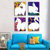 Special Design Frameless Paintings Line Drawing Print 4PCS - MULTI