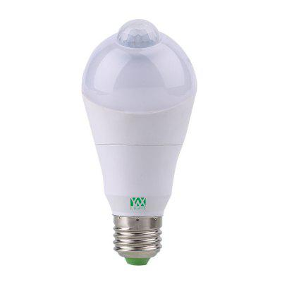 YWXLight E27 7W 350Degree Rotate Infrared Motion Sensor LED Light Bulb