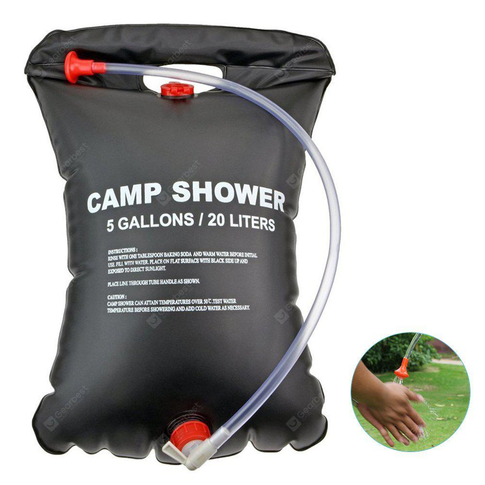 5 Gallons Solar Camp Shower Water Bag for Outdoor Hiking Camping Swimming