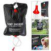 5 Gallons Solar Camp Shower Water Bag for Outdoor Hiking Camping Swimming - BLACK