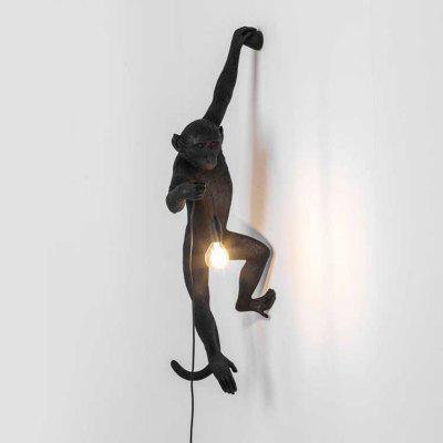 ms 20w modern individuality creative monkey shape wall lamp for living room bedroom
