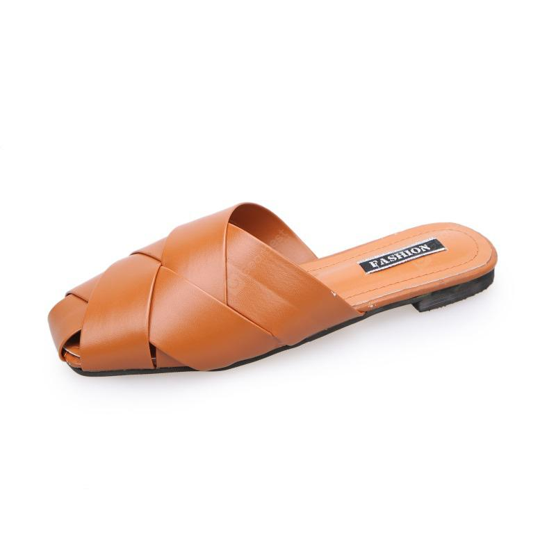 Fashion Square All-match Slippers