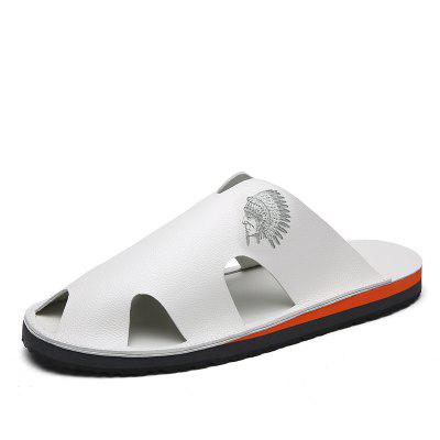 Men Slippers Beach Summer Breathable Sandals Shoes Leisure Flats Sneakers
