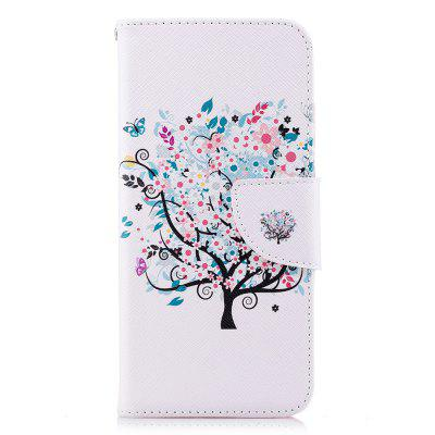Case for Huawei P20 White Tree Pattern PU Leather Wallet