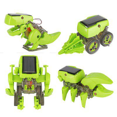 4 em 1 Transforming Solar Powered Robot Kit