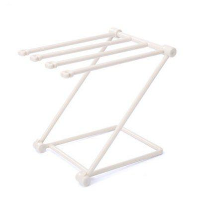 Foldable  Rags Kitchen Towels Hanger Table Storage Rack