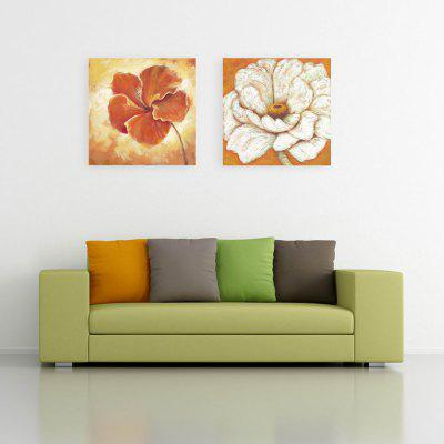 W123 Unique Flower Unframed Art Wall Canvas Prints for Home Decorations 2 PCS