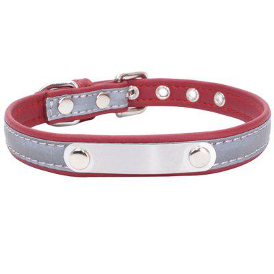 Reflective Collar Stainless Steel Iron Comfortable Microfiber Dog Chain